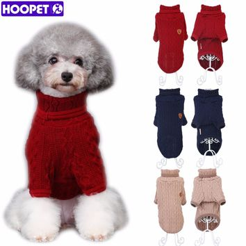 Dog Cat Knit Sweater Kitten Puppy Classic Turtleneck Sweatshirt Knitwear Pet Autumn Winter Coat Clothes Apparel 3 Colors