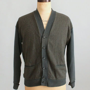 Vintage 1950s Richmond Brothers Mens Cardigan