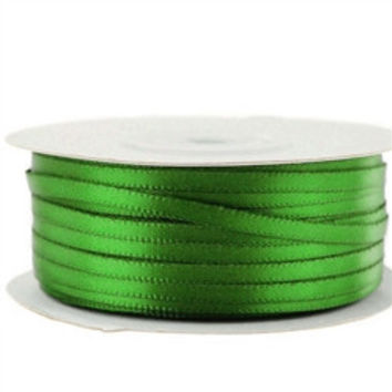 Double Face Satin Ribbon, 1/8-inch, 100-yard, Emerald Green