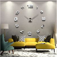 Stylish Simple Design Living Room Diy Home Decor Decoration Gifts Clock Wall Sticker[6282929798]