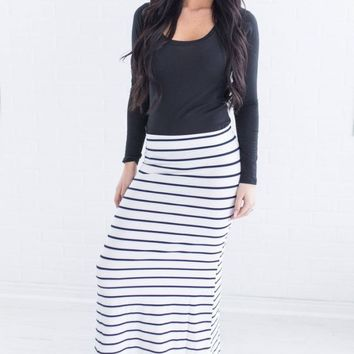 Bella Striped Maxi Skirt