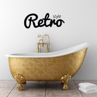 Wall Vinyl Sticker Decal Art Design Abstract Vintage Retro Style Inscription Room Nice Picture Decor Hall Wall Chu921