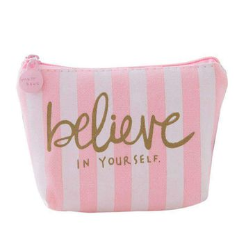 Believe in yourself make up bag