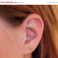 ON SALE Double Wrapped Loop Tragus/Nose/Ear Cuff, Non Pierced Cuff