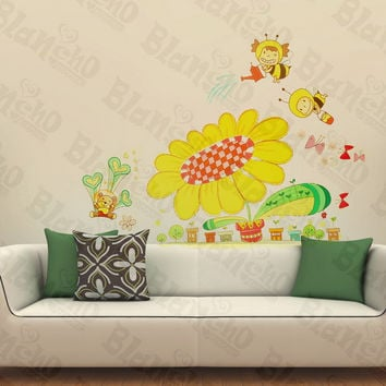 Bee's Garden - Wall Decals Stickers Appliques Home Decor