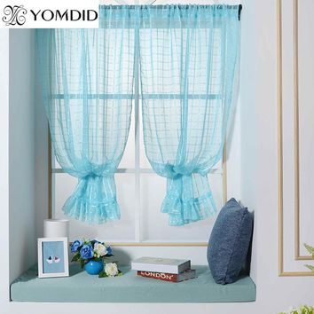 Tulle Roman Curtains For Kitchen Living Room Bedroom