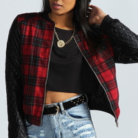 Lauren Check Body Bomber Jacket
