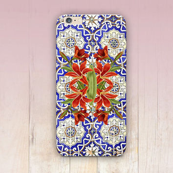 Moroccan Tiles Phone Case  - iPhone 6 Case - iPhone 5 Case - iPhone 4 Case - Samsung S4 Case - iPhone 5C - Tough Case - Matte Case