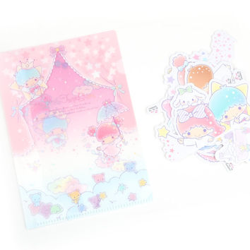 Little Twin Stars Stickers with File Folder