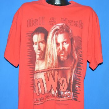 90s WCW Outsiders Kevin Nash Scott Hall t-shirt Extra Large