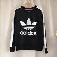 Adidas Fashion Crew neck Tops Sweater Pullover Boyfriend Sweatshirt