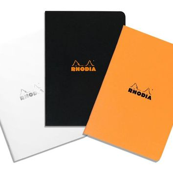 Rhodia A5 Medium Size Side-Stapled Notebook LINED