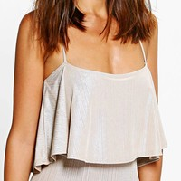 Willow Textured Print Frill Body