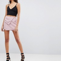 Parallel Lines Asymmetric Mini Skort at asos.com