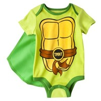 Ninja Turtles® Newobnr Boys' Teenage Mutant Ninja Turtles Caped Bodysuit - Green