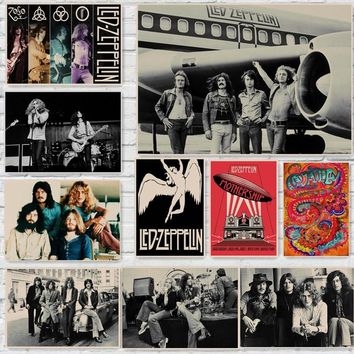 Led Zeppelin Rock Music Posters Home Decoration