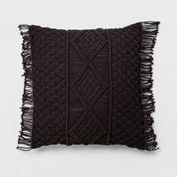 Square Pillow Macrame Cream Oversize - Opalhouse™