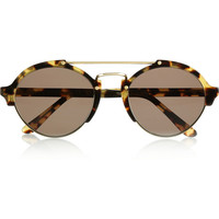 Illesteva | Milan II aviator-style acetate and metal sunglasses | NET-A-PORTER.COM