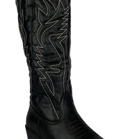 Life Well Spent in the Saddle Cowgirl Boot (Black)