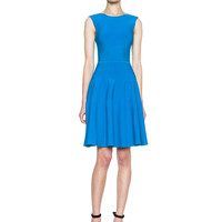 Rib Dress in Sea Blue