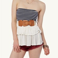 Striped Tiered Tube Top | rue21
