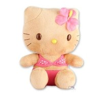 "Hello Kitty Summer Hawaiian Tan: 8"" Plush in Pink Bikini"