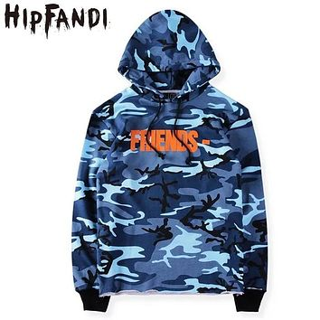 HIPFANDI New Citi Trends 2017 Kpop Clothes Harajuku Urban Clothing Hoodies Men Camo Box Logo Vlone Friends Asap Hip Hop Hoodie