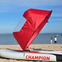 DCCK7N3 42'/108 cm Kayak Boat Wind Paddle Sailing Kit Popup Board Sail Rowing Downwind Boat Windpaddle with Clear Window 4 Colors