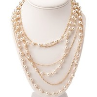 Delicate Faux Pearl Necklace