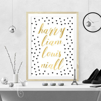 Wall art decor One Direction quote, typography giclée print