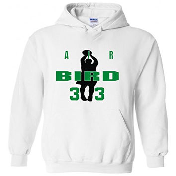 "Larry Bird Boston Celtics ""Air Bird"" Hooded Sweatshirt ADULT MEDIUM"