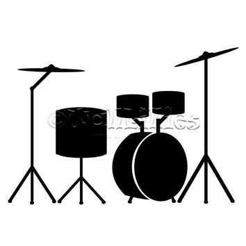 Acoustic Drums Decal