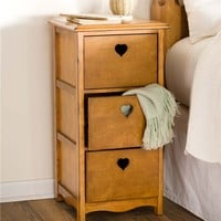 Wooden Heart Side Table | Accent Tables