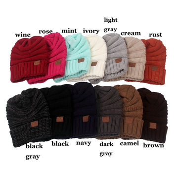 CC Beanie Hats-15 Colors to Choose [9660593487]