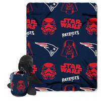 New England Patriots NFL Star Wars Darth Vader Hugger & Fleece Blanket Throw Set