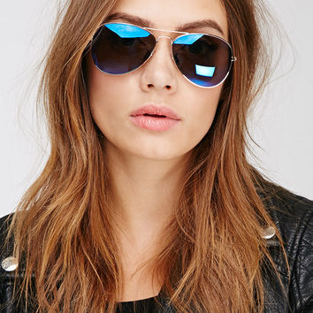 Classic Mirrored Aviator Sunglasses