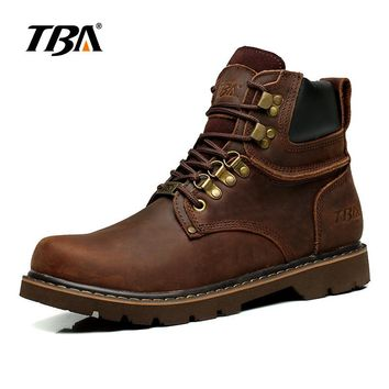 Men's Breathable Leather Martin Boots