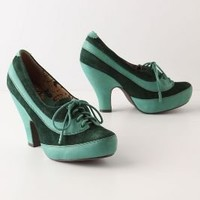 Emeraldine Oxford Heels - Anthropologie.com