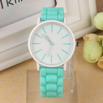 Silicone Rubber Jelly Quartz Watches