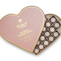 Pink Marc de Champagne Truffle Heart (500g) - Valentine's Gifts - Send A Gift