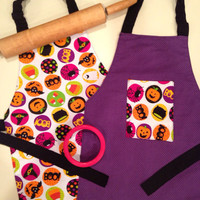 Reversible Halloween Apron, Reversible Apron for Halloween, Children's Apron