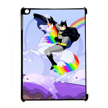 batman riding unicorn for iPad Air CASE *07*