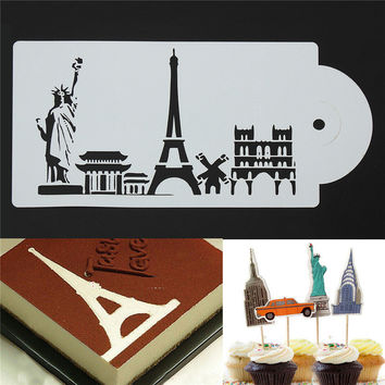 Reusable Stencil Airbrush Painting Art DIY Home Decor Scrapbooking Album Craft Cake Spray Pattern