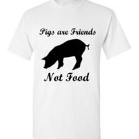 Pigs are Friends Not Food T-Shirt
