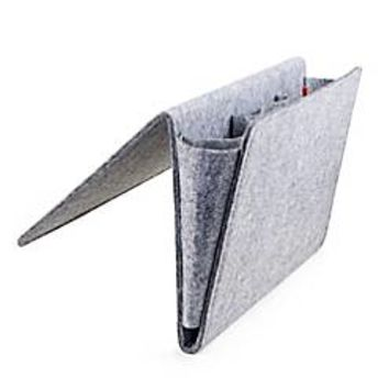 Kikkerland® Large Bedside Felt Storage Pocket in Grey