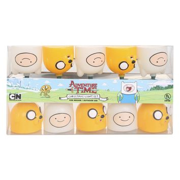 Licensed cool Adventure Time Finn and Jake Heads Holiday Christmas Lights 10 String Light Set
