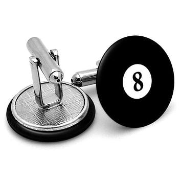 #8 Billiards Pool Ball Cufflinks