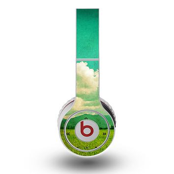 The Green Vintage Field Scene Skin for the Original Beats by Dre Wireless Headphones