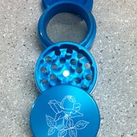 "Laser Engraved Herb Grinder ""Rose"""