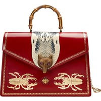 Gucci Large Broche Beetle Print Leather Satchel | Nordstrom